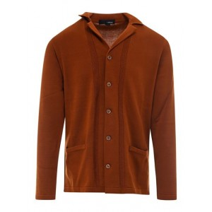 Men's Lardini Spring Summer 2021 cotton cardigan in brown Classic Selling Well MBQG569