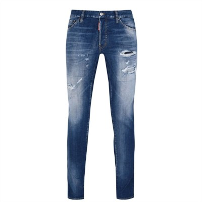 DSQUARED2 Cool Guy Fade Jeans Light Blue Wash - Men Jeans Collection LMKI1333