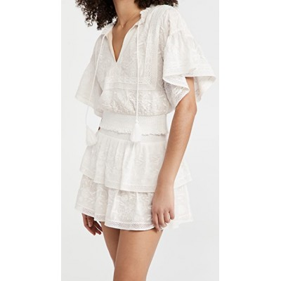 alice + olivia Young Ladies Tabitha Blouse Off White Work in new look THEG250