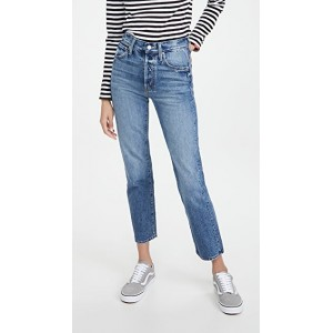 MOTHER Women High Waisted Hiker Hover Jeans A Day In The Life Of Daniel New Style LVNA799
