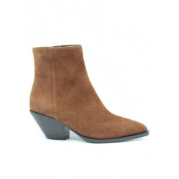 Women's Giuseppe Zanotti Spring Summer 2021 heeled suede ankle boots in brown On Line KAWP606