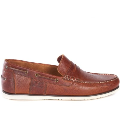 Barbour Keel Boat Shoes NavyBrown NY71 - Women Dress Shoes YSWG5901